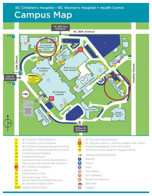 CW Campus Map