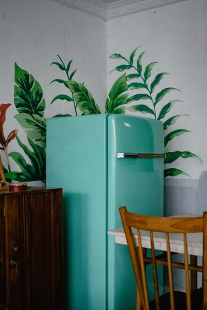 teal fridge