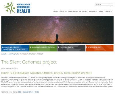 Indigenous Health story - Silent Genomes