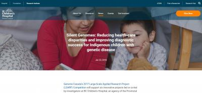 BCCHR Story - Silent Genomes