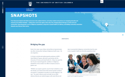 UBC Pathways - Snapshots