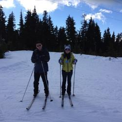 Anthony and Tina at the Turvey lab ski trip; Cypress Mountain - 2014