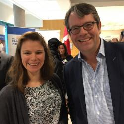 Kate and collaborator, Dr. Mike Kobor at the LSARP announcement - 2018