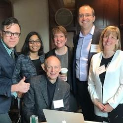 Dr. Turvey with some of the LSARP team at the F2F meeting in Toronto - 2017